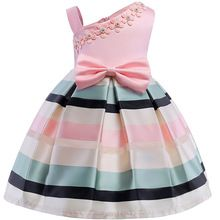 Bear Leader Girls Dresses New Girls Pearl Flower Party Sleeveless Dress Strap Stripe Princess Bow Dress For Years Toddler Girl Dresses, Little Girl Dresses, Girls Dresses, Party Dresses, Girls Easter Dresses, Tutu Dresses, Party Outfits, Dress Party, Formal Dresses