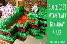 Super EASY Minecraft Birthday Cake for kids!