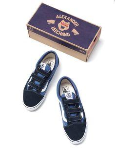 sneakerwars:  ALEXANDERLEECHANG × VANS OLD SKOOL BLUE