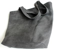 Grey distressed leather tote , Grey leather Bag , Large tote bag by BarLeather by BarLeather on Etsy