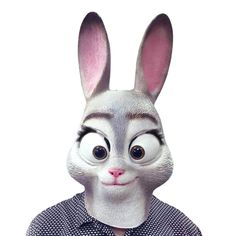Cartoon Judy Rabbit Latex Masks  Full Face Adult Halloween Masquerade Fancy Dress Party Cosplay Costume Exaggerated Long Ears