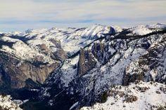 Dewey Point in Yosemite Snowshoeing