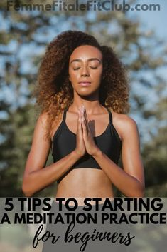 5 tips to starting a meditation practice for beginners #meditation #concentration #mantra #chant #meditationpractice #wellness Wellness Programs, Wellness Tips, Health And Wellness, Health Fitness, Women's Health, Health Tips, Mental Health, Meditation Benefits, Meditation Practices