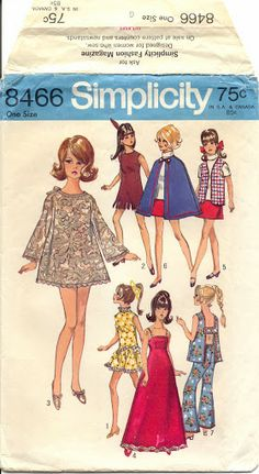 I didn't wear this but in 1970 this was what my Barbie was wearing! A woman gave me all these clothes she had sown for my Barbie! Sewing Doll Clothes, Vintage Barbie Clothes, Sewing Dolls, Doll Clothes Patterns, Clothing Patterns, Doll Patterns, Barbie Sewing Patterns, Vintage Sewing Patterns, Barbie Et Ken