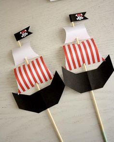 67 Ideas Party Decoracion Fiesta For 2019 Deco Pirate, Pirate Day, Pirate Birthday, Pirate Theme, Boy Birthday, Pirate Party Favors, Pirate Party Decorations, Peter Pan Party, Pirate Crafts