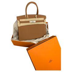 Sacs à main Hermès Birkin 30 togo gold Veau façon poulain Beige ref.179992 - Joli Closet