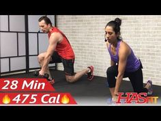 28 Min Total Body Strength Workout with Weights - Strength Training Women Men Home Weight Training - YouTube