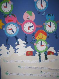 """""""Elävät ajat"""" Math Clock, Art For Kids, Crafts For Kids, Paper Bouquet, Teaching Time, Math Teacher, Handicraft, Preschool, Projects To Try"""