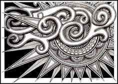 $4.99 ACEO Cloudy Day Zentangle by Laura Stoner | eBay