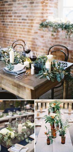 Decora tu boda con hojas de eucalipto.