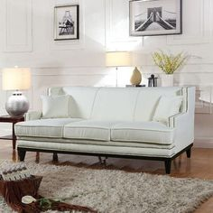 Madison Home USA Modern Sofa Upholstery: Beige
