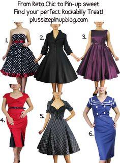Rockabilly plus size.... I love love love the polka dot dresses!