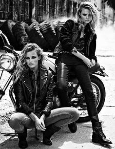 Models: Magdalena Frackowiak and Edita Vilkeviciute for W, Sept. 2013