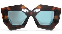 Tortoise W/blue Mirror Lenses Superhero by House of Holland | DITTO