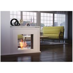Bio-fireplace June is finished in white. Designed to divide the rooms will suit perfectly in British home or any Pub or restaurant. Traditional Fireplace, House, Interior, London Flat, Home, Ethanol Fireplace, Spacious, Interior Design, British Home