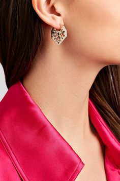 Noor Fares - Chandbali 18-karat Gray Gold Multi-stone Earrings - one size