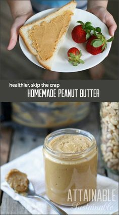Making homemade peanut butter is really simple and you can customize the ingredients to your taste, making for a tasty, healthier spread. Click through to find out just how easy it is!