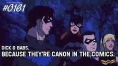 young justice - dick and babs - Barbara Gordon & Dick Grayson Photo (31816866) - Fanpop