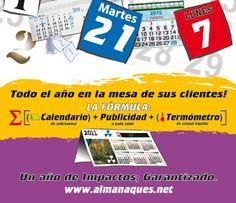 3 en uno: publicidad + calendario+ termometro: publicidad + calendario + termómetro