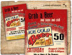 30th birthday invitation   Beer birthday party by 2birdstudios, $20.00