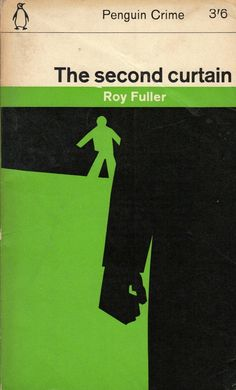 Amazing figural blocking design. Classic Penguin Crime cover: THE SECOND CURTAIN #Coolcovers #books #crime