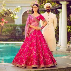 How pretty is this all pink lehenga by Sabyasachi spring summer 2018 collection #Frugal2Fab