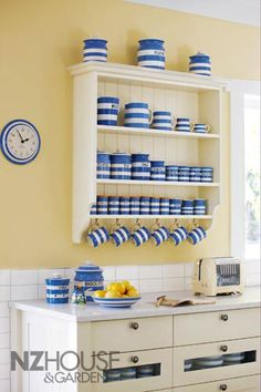 Love Cornish Blue And Yellow In This Kitchen