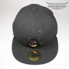 11a41ab846271 JustFitteds x NEW ERA x MLB (59Fifty Fitted Cleveland Indians Blk Gold Red)  limited to only 144