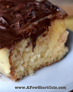 Boston Creme Poke Cake #Recipe Mmmm.....