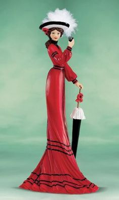 "Coca-Cola - ""Elegance of Coca Cola"" - Elegance and Poise with Coca Cola Lady Figurine"