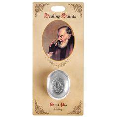 St Pio Healing Saint Pocket Stone,  $6.95   The Catholic Company