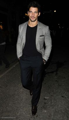 Male Supermodel David Gandy, great look for night out