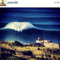 #Nazaré big waves #Portugal