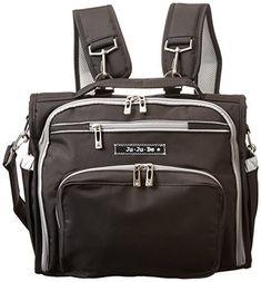 Ju-Ju-Be B.F.F. Messenger Diaper Bag (Black/ Silver) by Ju-Ju-Be