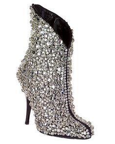 Rockin' glitter booties.