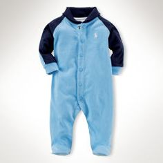 Cotton Shawl-Collar Coverall - Baby Boy One-Pieces - RalphLauren.com