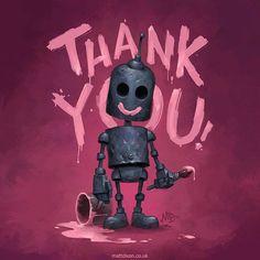 Robot by Matt Dixon Arte Robot, Robot Art, 3d Character, Character Design, Character Concept, Arte Horror, Freelance Illustrator, Cute Art, Amazing Art