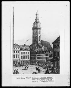 Berlin 1750 Die Marienkirche