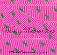 3c744b6c65 NEW 1 Yard 1 Inspired Green Polo horse on Hot by WhimsyRibbonShop