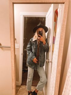 oversized jean jacket outfits for women