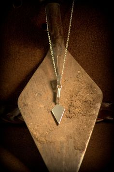 Sterling Silver Archaeological Trowel Necklace…….yesyesyes