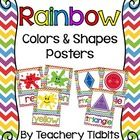 Rainbow Themed Colors and Shapes Posters