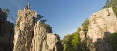 Palisades State Park - Garretson, SD. Great hiking trails and rock climbing. Kayak, canoe or tube the Splitrock River. Campground & lodge.