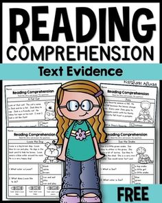 Reading Comprehension passages - text evidence - FREE First Grade