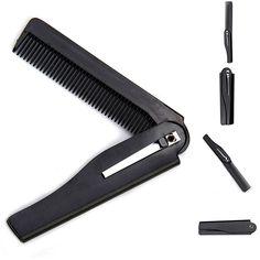 Hot Fashion Mens Womens Handmade Folding Pocket Clip Hair Moustache Beard Comb  Tangle Hair Brush M02956