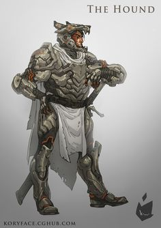 Some Game of Thrones fan art.  This is Sandor Clegane, or the Hound, with a sci fi spin.  Copyright Kory Hubbell 2013