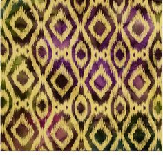 Lovely earthy batik cotton fabric for reupholstery and home decorating. Love this ikat style print! $27.99/m from Fabric Traders.