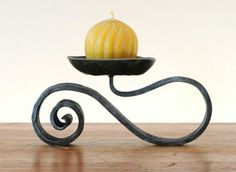 Forged candle holder