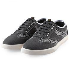 finest selection 5cc9a de819 HLA Letter Print Lace Up Nubuck Casual Shoes for Men