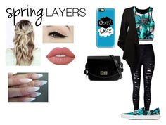 """""""#SpringLayers"""" by moniybrooks on Polyvore featuring Bar III, Vans, Anatomy Of, Lime Crime and Casetify"""